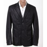 Buy cheap Size 50, Black / Yellow / Dark Red, Classic and Fashionable Mens Leather Suits from wholesalers