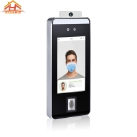 China biometric facial recognition time attendance system and temperature face access control terminal wholesale