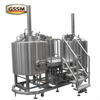 China Stainless Steel Micro Brewing Equipment , Direct Fired 30 BBL Brewhouse For Hotel / Bar wholesale