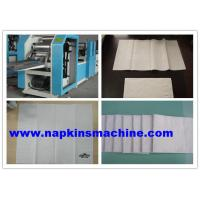 China Vacuum Folding Napkin Paper Making Machine With Embossing And 2 Color Printing wholesale