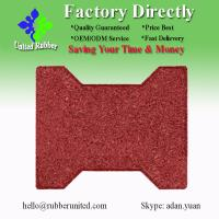 China Red Color Bone Shaped Recycled Rubber Tile/Rubber Flooring on sale
