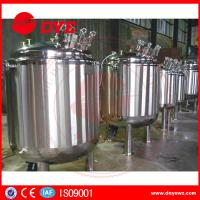 China Side Three Layers Stainless Steel Jacketed Tanks Liquid Soap Agitator Mixer wholesale