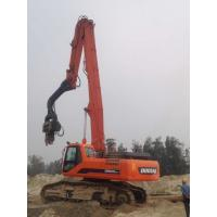 China Accurate Excavator Mounted Pile Driver 2600kg Hammer Weight Stable Performance wholesale