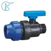 China Plastic Compression Fitting Pipe Connectors Male Ball Valve In PN16 wholesale