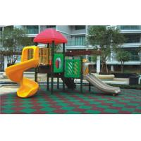 China Fire Retardant Rubber Playground Flooring with 1mm - 3mm Granules wholesale