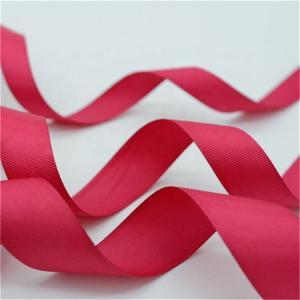 China Fancy Patterned Grosgrain Ribbon , Solid Color Custom Printed Grosgrain Ribbon wholesale