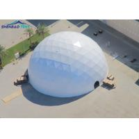 China Transparent Geo Dome Tent Shelter With Soft PVC Fabric Wall/ Steel Tube Plastic Dipping wholesale