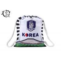 China Sublimation Printed Soccer String Bags , Korea Baseball Custom Cinch Bags wholesale