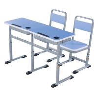 China Double Primary School Student Desk And Chair Set 1.2 MM Steel Electrostatic Spraying wholesale