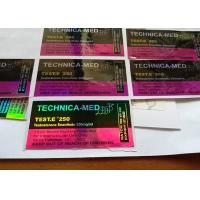 Buy cheap Pharmaceutical Steroid 10ml Hologram Vial Label Maker 10ml Vial Labels For Anabolic Steroids from wholesalers