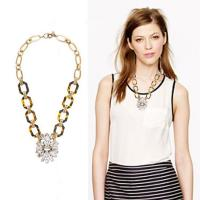 China Acrylic & glass ancient style necklace ,Customized clothing fashion accessories factory wholesale