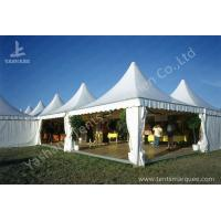 China Weather and Fire Resistant Array Pagoda Fabric White Luxury Outdoor Canopy High Peak Aluminum Tent wholesale