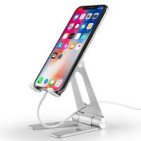 China COMER Adjustable portable and folding table aluminium tabletop phone hold for i phone tablet support stand holder wholesale
