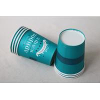 China 12 Oz 380ml Single Wall Paper Cups For Hot Drinks With Lids In Blue Color wholesale