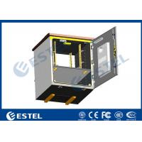 China Outdoor Pole Mounted Telecom Cabinet / Small Enclosure For Pole Mount With 19 Inch Rack Battery Shelf wholesale