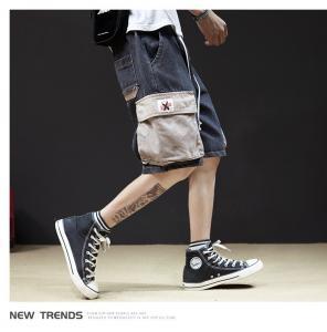 China OEM ODM Vintage Washed Distressed Jeans Men'S Lightweight Cargo Shorts For Summer wholesale