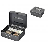China Rounded Corners Metal Coin Money Storage Safe Security Box Holder Suitcase With Combination Lock wholesale