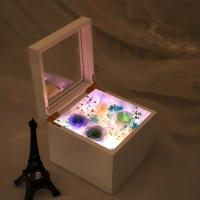 China Rose gift New Arrival DIY Preserved Rose Music Box Valanrines day Mothers Day Immortal Roses Led Light Gift Box on sale