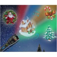 China Christmas Indoor Super Bright LED Flashlight , Handheld Projector Black Blue on sale