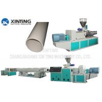 China Profile Twin Screw PVC Pipe Extrusion Line, Plastic Tube Making MachineLow Noise wholesale