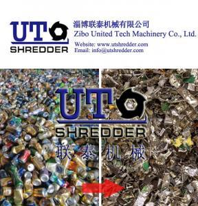 China garbage, kitchen waste, pop can, solid waste, household waste, scrap material shredder / crusher - double shaft shredder on sale