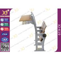 China University / College Classroom Furniture Plywood Seating Steel Iron Leg wholesale