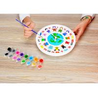 "DIY Painting Battery Powered 9 "" Wall Clock Art And Craft Kits For Children"