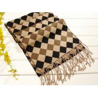China 2013 fashion Mens winter brown and black plaid long Silk Scarf 100% pashmina/wool/cashmere scarves Shawl wholesale