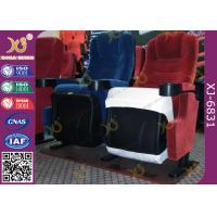 China Fixed Seat Back Foldable Armrest Fire Retardance Fabric With PP Cup Holder wholesale