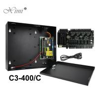 China Hot Sale ZK C3-400 4 Doors Access Control Board TCP/IP Door Access Control Panel With Power Supply Box Battery Function wholesale