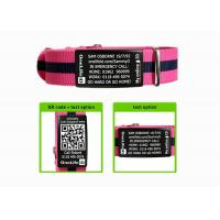 Buy cheap Adjustable Nylon Sport ID Bracelet With Engraving Black Metal Plate from wholesalers