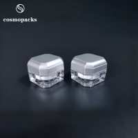 China 5g 10g Silver / Gold Two Layers Acrylic / PP Plastic Cream Jars wholesale