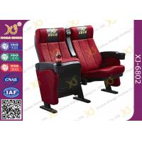 China Ergonomic Steel Frame Powder Coated Cinema Theater Chairs With Cupholder wholesale