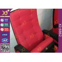 China Molded PU Foam Plastic back Steel Tube Legs Stadium Theater Seating With Red wholesale