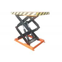 Buy cheap 1000kg Stationary Scissor Lift Table With Max Lift Height 1000mm 1.5kw Power from wholesalers
