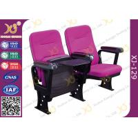 China Injection Polyurethane Foam Low Back Auditorium Conference Hall Chair With Soft Seat Back wholesale