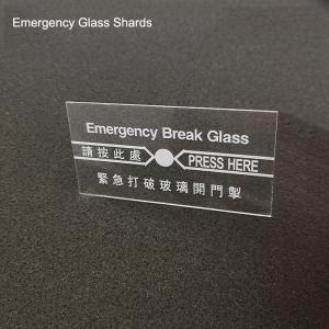 China Replacement Emergency Break Glass/Alarm Shards EBG998 wholesale