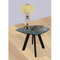 China Tempered Glass Coffee Stylish Corner Table , Glossy Ceramic Topped Lamp End Table wholesale