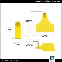China ETPM01 Sheep And Goat Ear Tags / RFID Animal Ear Tag With Two Pieces wholesale