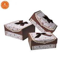 China Custom folding gift box paper packaging case free design with ribbon on sale
