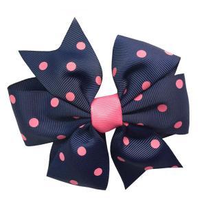 China Soft Feeling Kids Hair Ribbons , Various Color Custom Made Hair Bows wholesale