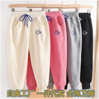 China Clothing manufacture in china 130cm 140cm 150cm Girls Pure Cotton Pants Soft Motion Pants wholesale