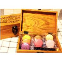 China Solid  Handmade Wooden Tea Bag Box Colorful Lacquer With Compartments wholesale