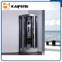 China 900 Quadrant Steam Shower Cabin , Shower Steam Room Enclosures With Ceiling Light wholesale