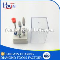 China White Carbide Nail Drill Bit Kits With  Plastic Box Package Excellent Heat Dissipation on sale