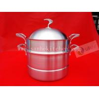 China 3 layers Stainless steel steam pot,thickness 2.5mm with cast iron handle wholesale