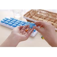 China 7 Day Weekly Medicine Pill Organizer Am Pm Pill Box And Tablet Splitter Single Color Combine For Promotion wholesale