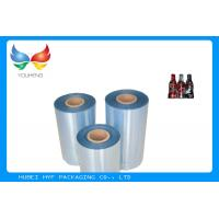 China High Shrinkage 45mic Clear PET Shrinkable Film Rolls Plastic Film For Sleeves wholesale