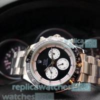 China Best Quality Replica Rolex Daytona Black Dial Stainless Steel Watch wholesale