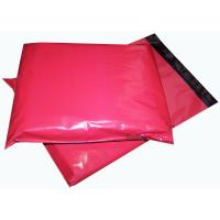China Red 14'' X 6.5'' Printed Heavy Duty Plastic Polythene Mailing Bags Biodegradable on sale